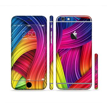 The HD Vibrant Colored Strands Sectioned Skin Series for the Apple iPhone 6 Plus
