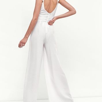 Long jumpsuit with sash - Jumpsuits | Stradivarius United Kingdom