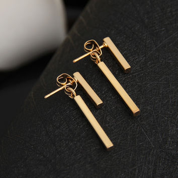 2017 Personalized New Fashion Earrings brinco Simple T Bar Stud Earrings Jewelry for Women korean small earing mariage Gifts