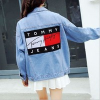 Tommy Hilfiger Women Denim Cardigan Jacket Coat I