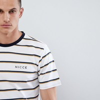 Nicce score stripe t-shirt at asos.com