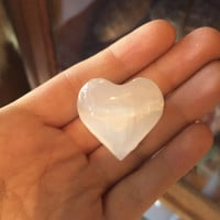 Small Selenite Heart
