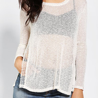 Urban Outfitters - Staring At Stars Crochet Crochet-Slit Sweater