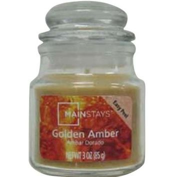 Mainstays 3-Ounce Candle, Golden Amber - Walmart.com
