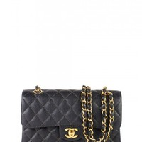 "Chanel Black Caviar 9"" 2.55 Bag"