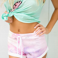 Wildfox Gym Shorts in Space Cadet