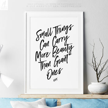 Beautiful Art Print With Inspirational Quote, Life Quote Wall Art, Modern Home Decor, Wall Decor, Dorm Decor, Chic, Bohemian, Poem Print