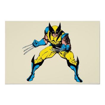 Wolverine and Claws Poster from Zazzle.com
