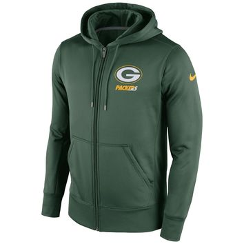 Green Bay Packers NFL Sideline KO Performance Full Zip Hoodie