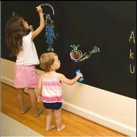 Two sizes Chalk Board Blackboard Stickers Removable Vinyl Draw Decor Mural Decals Art Chalkboard Wall Sticker For Kids Rooms
