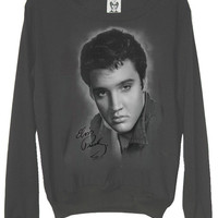 Elvis Presley Classic Charcoal Slouchy Jumper