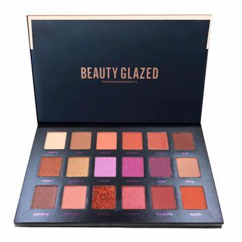18 Colors Beauty Glazed Pro Eye Shadow Long Lasting Makeup Palette Shimmer Matte Pigment Glitter Eyeshadow Pallete Cosmetic Tool