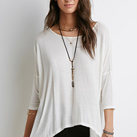Oversized Drop-Sleeve Asymmetric Top
