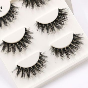 YOKPN A12 3D Eyelash Extension High Quality Thick False Eyelashes Beauty Makeup Lashes Tools Multi Layer Sexy Fake Eye Lashes
