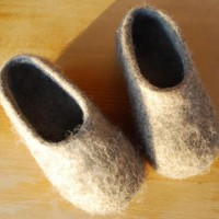 Felted wool slippers house shoes sabot clogs for women kids children boys girls  - ready to ship