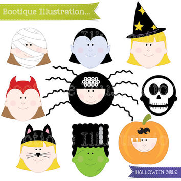 Halloween Clipart. Halloween Girls Clipart. Halloween Clip Art. Halloween Costumes Clipart. Halloween Kids Clip Art. Trick or Treat Clipart