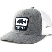 Grey\/ White Bass Hat