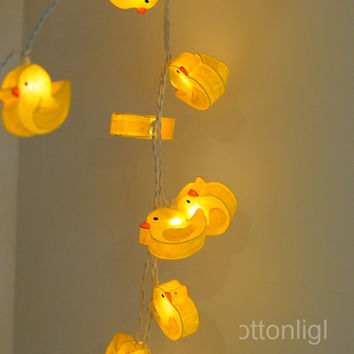 20 x yellow little bird duck lantern string light hanging bedroom kid cartoon decor decoration indoor light wedding gift display