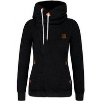 Leisure Side Zipper Cotton Hoodies