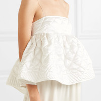 Cecilie Bahnsen - Selena open-back quilted silk-satin top