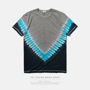 Men's Fashion Summer Stripes Short Sleeve T-shirts [10159745799]