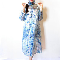 singing in the rain. vintage 60s polka dot rain coat with matching bonnet. size medium