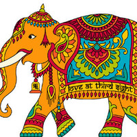 Painted India Elephant Cross Stitch Pattern | Los Angeles Needlework
