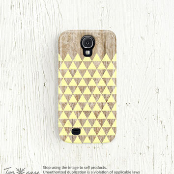 Galaxy note 2 case wood NEW Galaxy s3 case pink Galaxy s2 case yellow Galaxy 4 case Samsung galaxy 3 case triangle geometric /c186