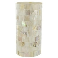 """3"""" x 6"""" Mother of Pearl Mosaic Pillar Candle   Shop Hobby Lobby"""