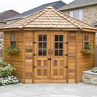 The Penthouse 9'x9' Cedar Garden Shed