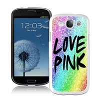 New Best Samsung Galaxy S3 Case Durable Soft Silicone TPU Colorful Glitter Love Pink White Cell Phone Case Cover