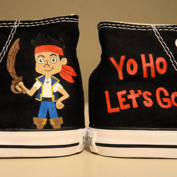Jake and the Neverland Pirates - Hand Painted Chuck Taylor Converse Shoes - Infant/Toddler sizes
