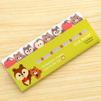 Kawaii Sticky note Planner-Sticky Note Holder-Kawaii Memo pad Animal-Funny Sticky Notes Post It Note-Rabbit-Birds-Squirrels sticky notes