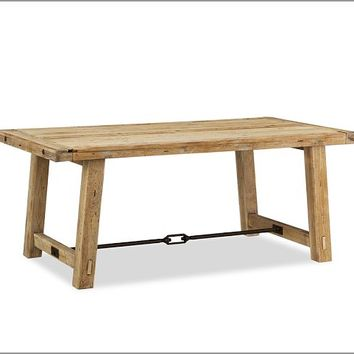 BENCHWRIGHT RECLAIMED WOOD FIXED DINING TABLE - WAX PINE FINISH
