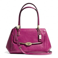 Coach :: Madison Small Madeline East/west Satchel In Leather