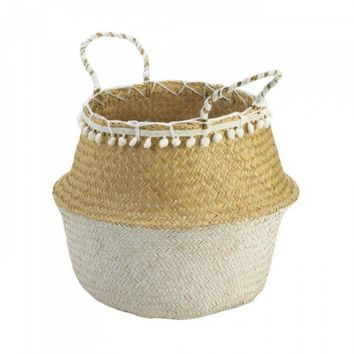 Seagrass Basket With Tassels