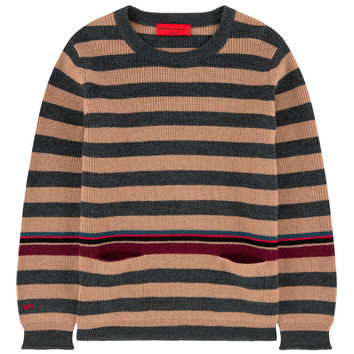 Sonia Rykiel Girls Striped Wool Sweater