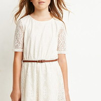 Embroidered Overlay Dress (Kids)