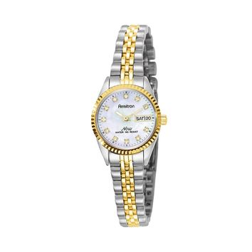 Armitron NOW Two Tone Crystal & Mother-of-Pearl Watch - 75/2475MOP - Women