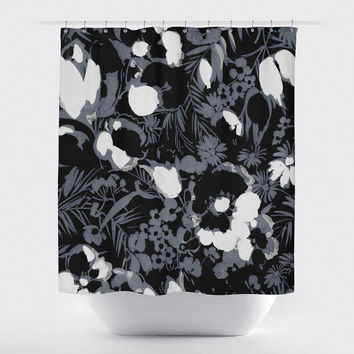 Vintage Slate Florals-Grey and Black