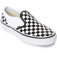 Vans Slip-On Black & White Checkered Boys Skate Shoes