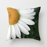 white & yellow Throw Pillow by McKenzie Nickolas (kenzienphotography)