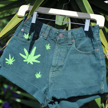 RASTA HIGH WAISTED Shorts Custom Made by AnjaliDevaDesigns on Etsy