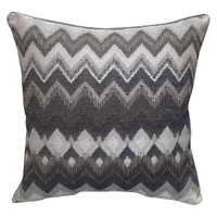 "Suede-Backed Chevron Toss Pillow (20x20"")"