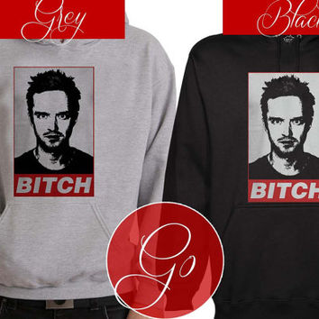 jesse pinkman bitch Hoodie Sweatshirt Sweater Shirt black and white Unisex