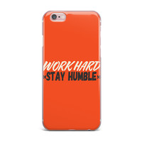 "Juan Paolo ""Work Hard Stay Humble"" Digital Vintage iPhone Case"