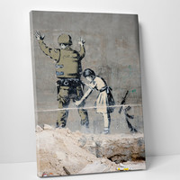 Street Art in Bethlehem by Banksy Gallery Wrapped Canvas Print