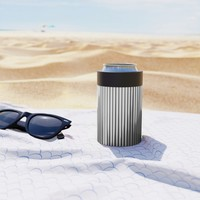 Grays Striped Can Cooler by duckyb
