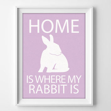 "8x10"" Rabbit Decor Gift, Personalized Rabbit, Bunny Wall Art, Lop Rabbit, Rabbit Pet Decor, Rabbit Christmas Gift, Rabbit Lover"
