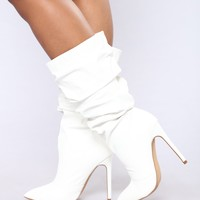 Catch My Eye Bootie - White